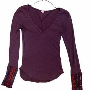 Free People Purple long sleeve